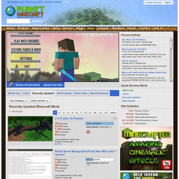 R cemment mis jour mods minecraft sur pearltrees - Planetminecraft com ...