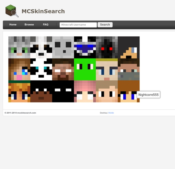Minecraft Skin Search > Home