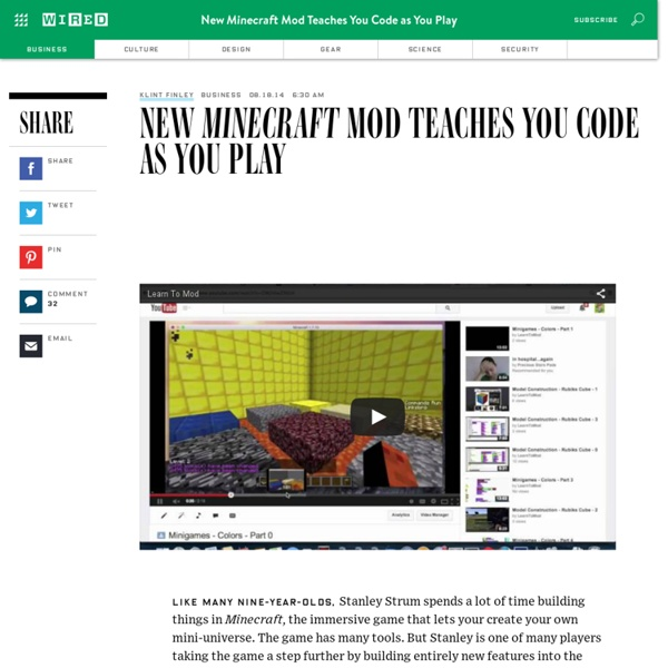 New Minecraft Mod Teaches You Code as You Play