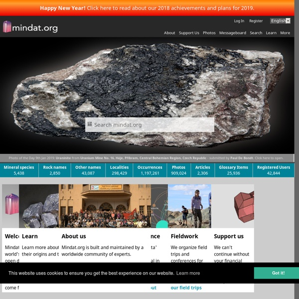 Mineralogy Database - Mineral Collecting, Localities, Mineral Photos and Data