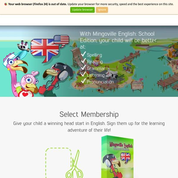 Mingoville.com – English for Kids.