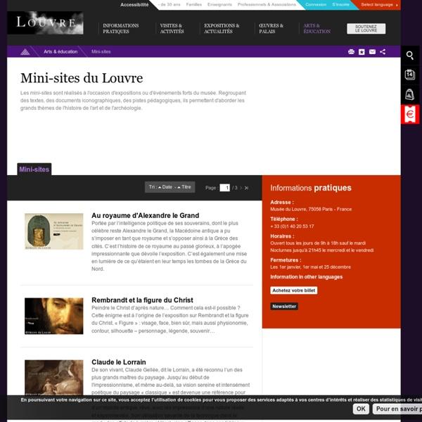 Mini-sites du Louvre