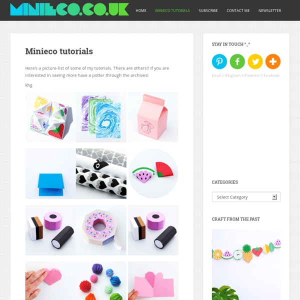 Minieco tutorials