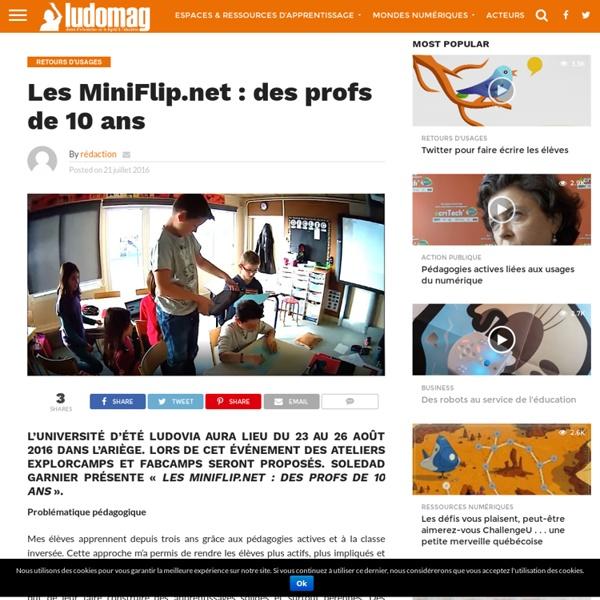 Les MiniFlip.net : des profs de 10 ans – Ludovia Magazine