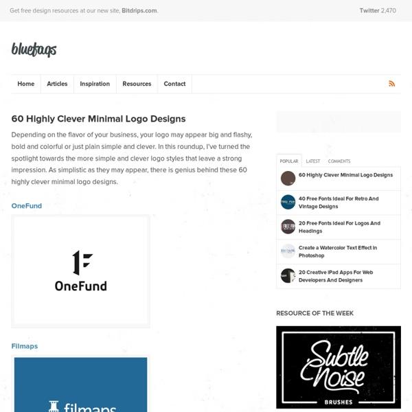 60 Clever Minimal Logos