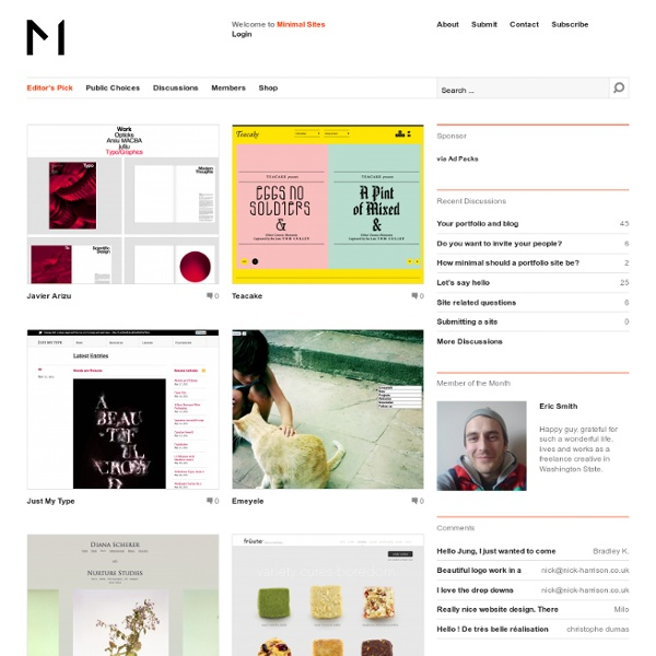 Minimal Design Website Gallery and Community