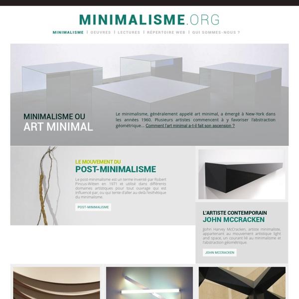 Minimalisme et art minimal