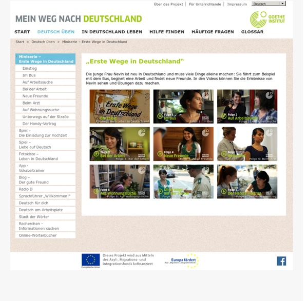 Goethe-Institut- Miniserie – Erste Wege in Deutschland