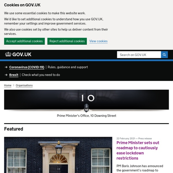 Number 10 Downing Street - The official site of the British Prime Minister