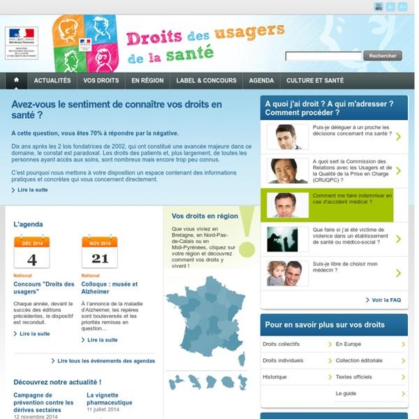 Espace droits des usagers - Ministère des Affaires sociales, de la Santé et des Droits des femmes - www.sante.gouv.fr