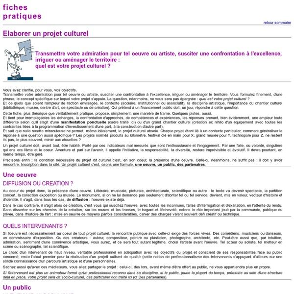 Fiche pratique (culture.gouv)