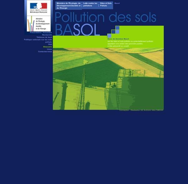 BASOL - Ministère de l'Écologie, du Développement Durable et de l'Énergie