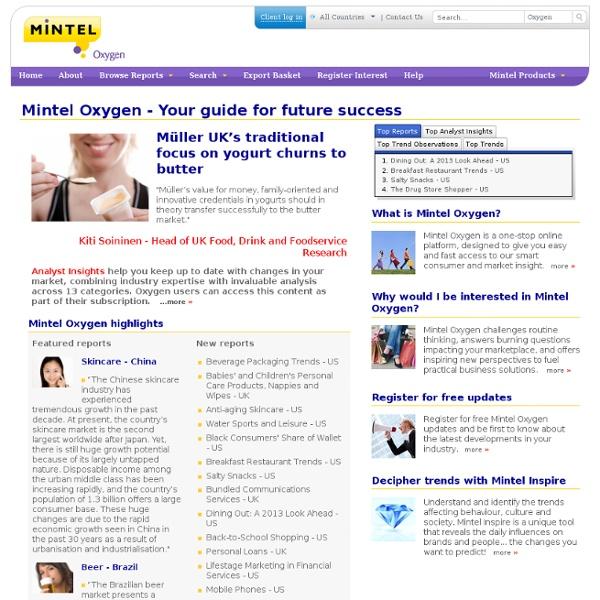 Login to Mintel Oxygen - Mintel Group Ltd.