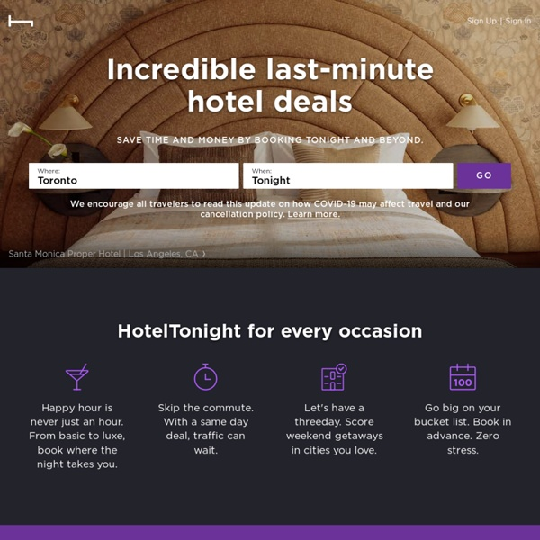 HotelTonight - Last Minute Deals on Great Hotels