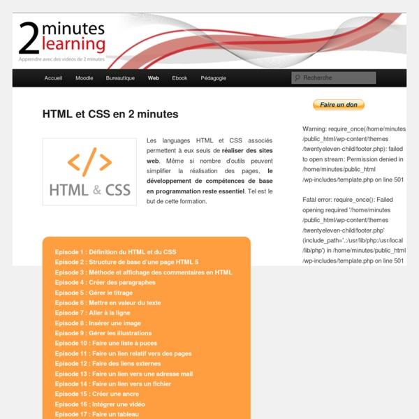 HTML et CSS en 2 minutes
