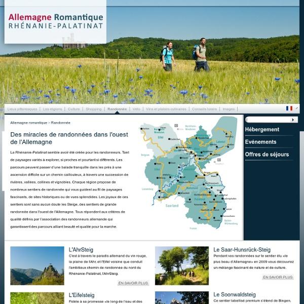 Des miracles de randonnées dans l'ouest de l'Allemagne