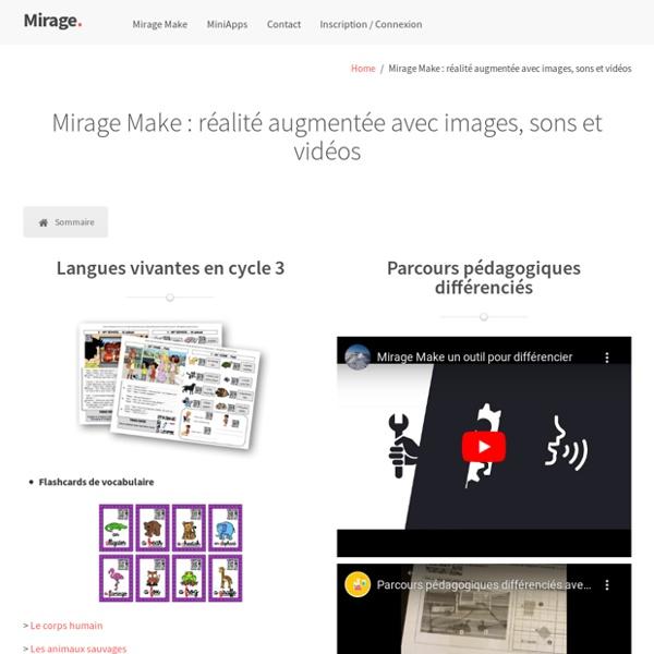 Mirage Make : réalité augmentée avec images, sons et vidéos