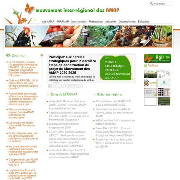 Miramap, mouvement inter-régional des AMAP