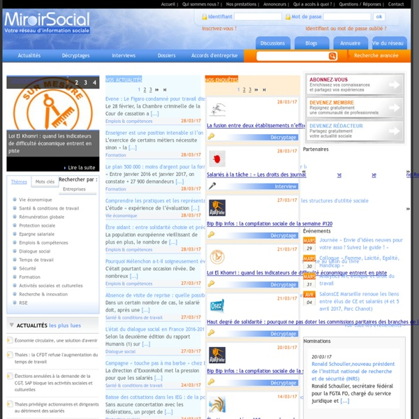 Miroir social, réseau d'informations sociales