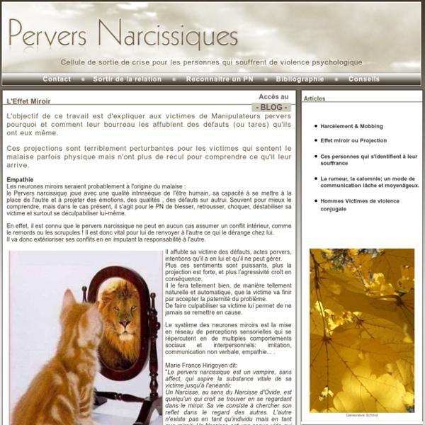 L'effet miroir du Pervers Narcissiques