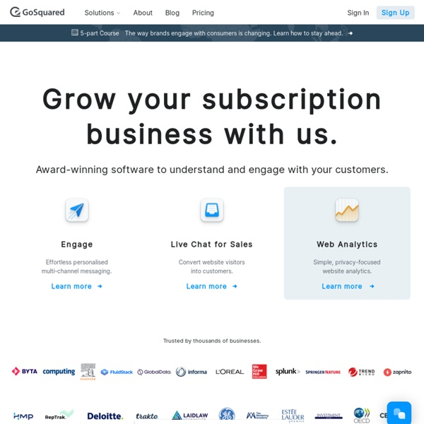 Real-time Web Analytics, from GoSquared