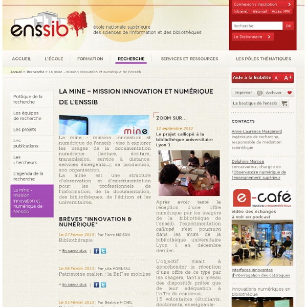 Mission innovation et numérique