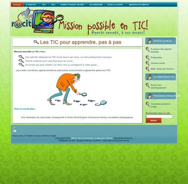 Mission possible en TIC! - Accueil