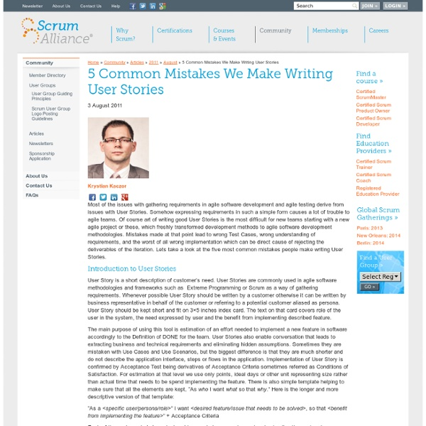 5 Common Mistakes We Make Writing User Stories
