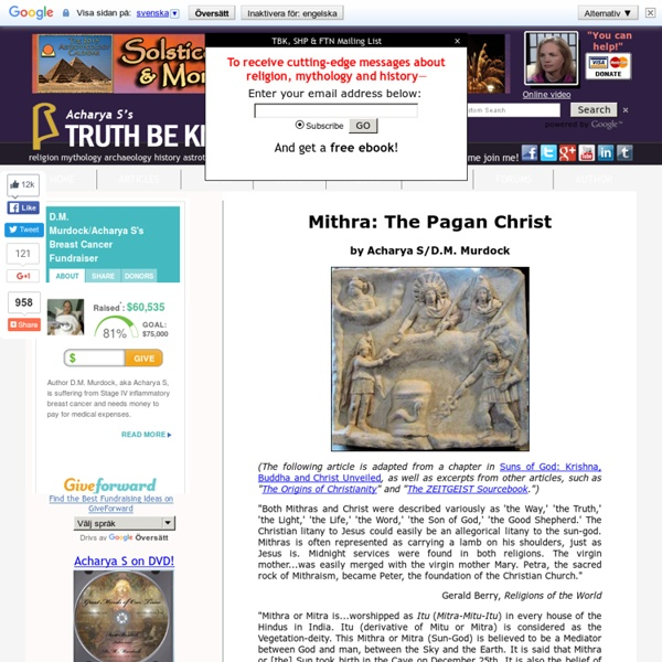 Mithraism and Christianity