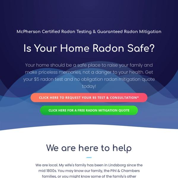 McPherson Radon Mitigation & Radon Testing
