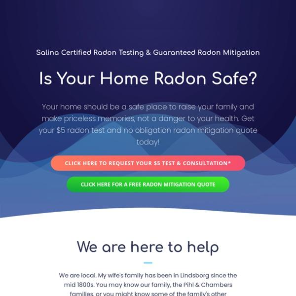 Salina Radon Mitigation & Radon Testing