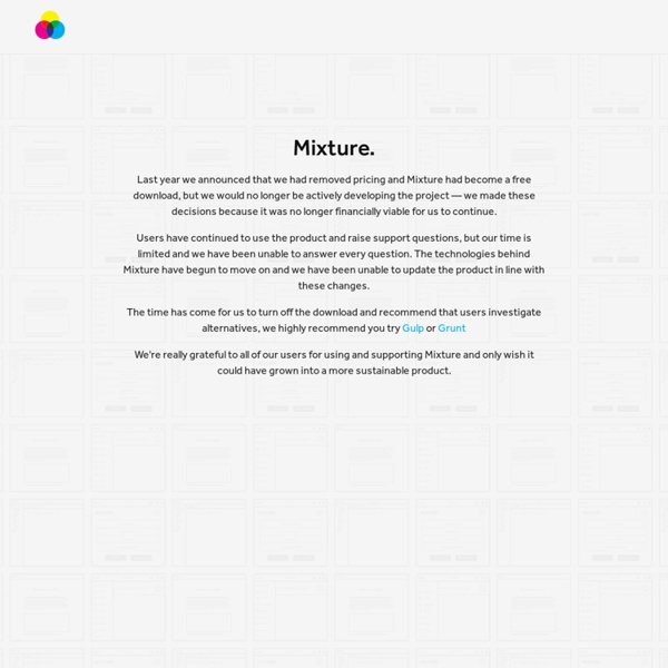 Mixture - The perfect front-end development tool for Mac & Windows.