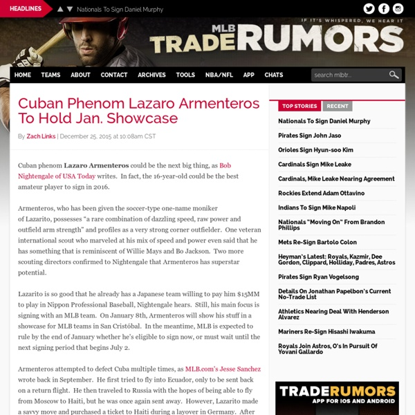 MLB Rumors - MLBTradeRumors.com