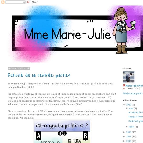 Mme Marie-Julie