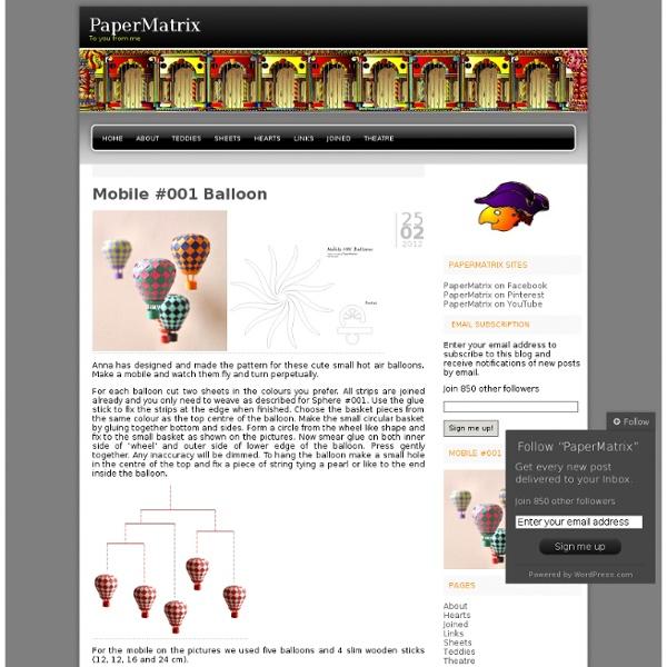 Mobile #001 Balloon « PaperMatrix