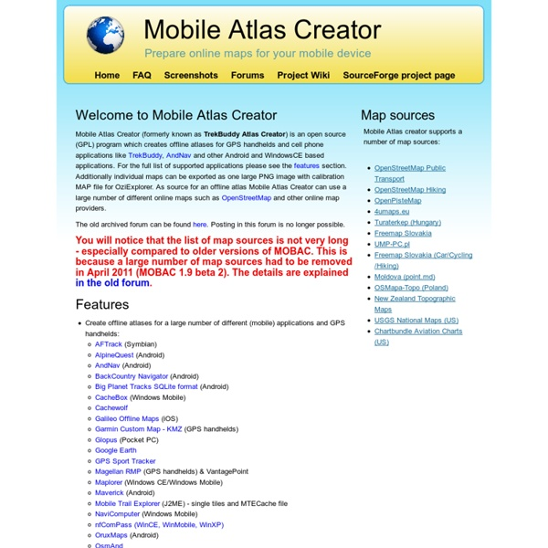 Mobile Atlas Creator
