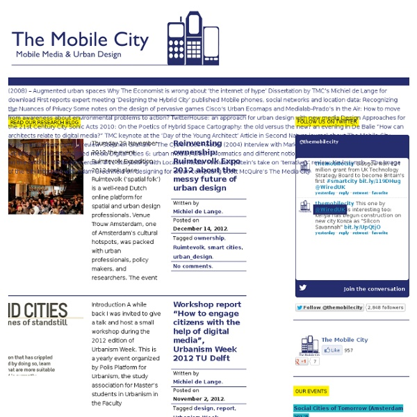Mobile Media and Urban Design