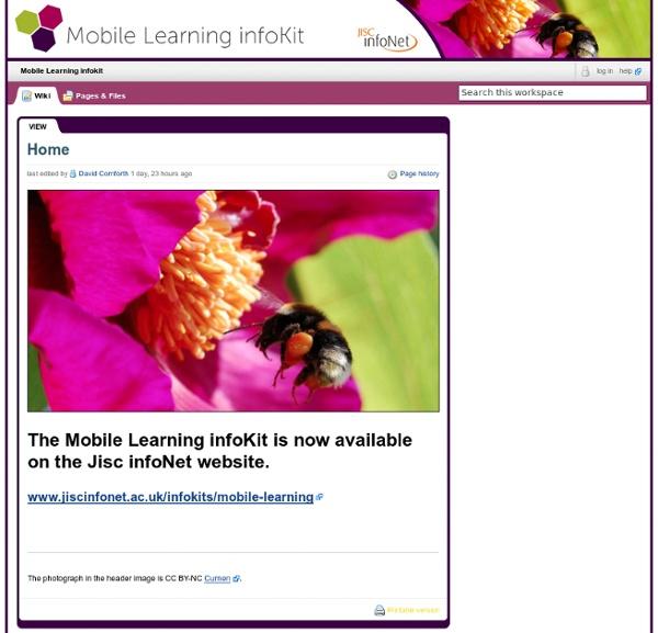 Mobile Learning infokit / Home