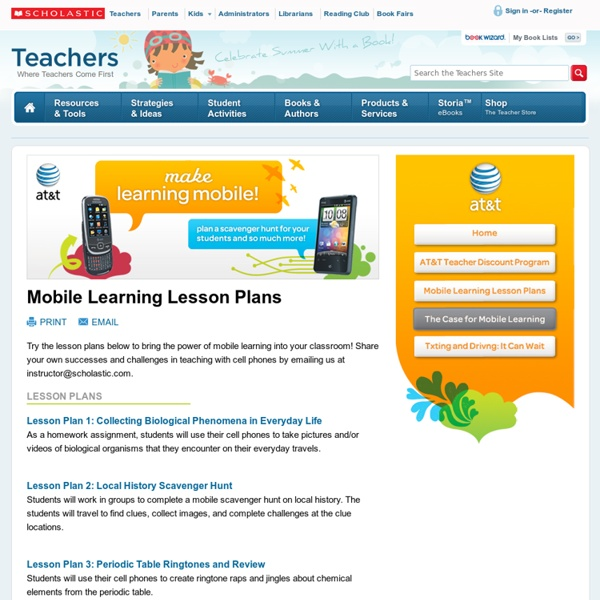 Mobile Learning Lesson Plans