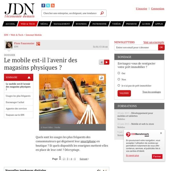 Le mobile est-il l'avenir des magasins physiques