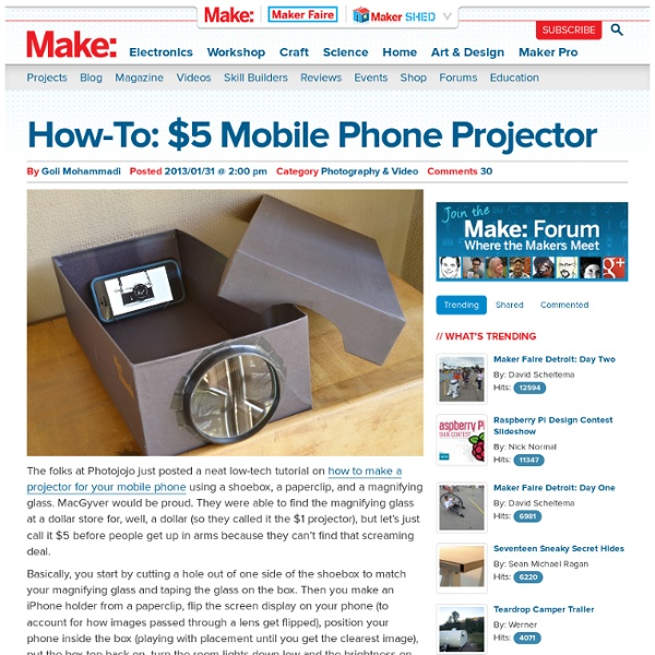$5 Mobile Phone Projector