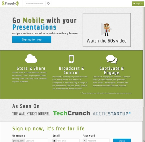Go Mobile with your Presentations - Presefy.com