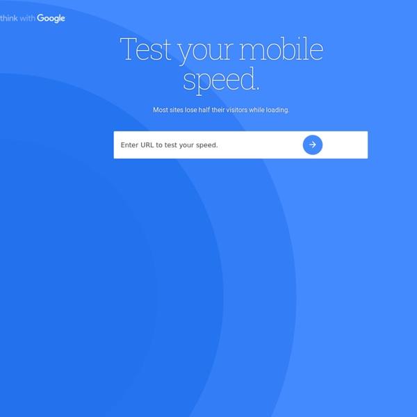 Mobile Website Speed Testing Tool - Google
