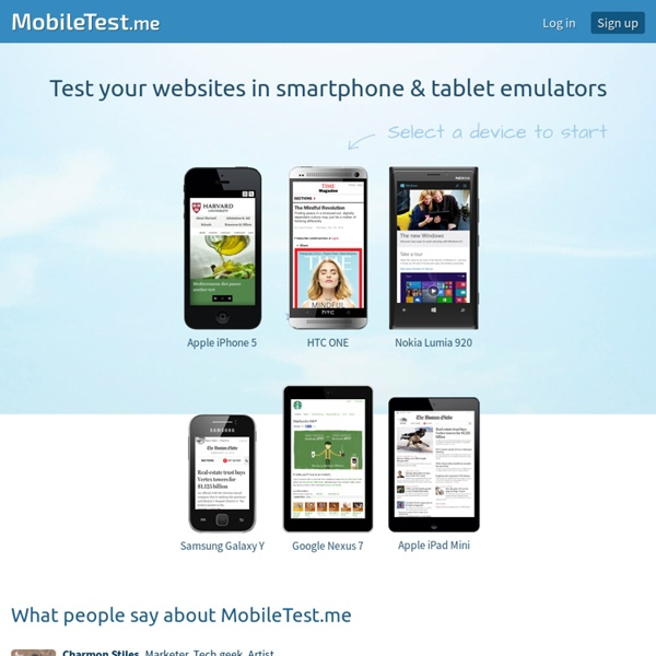 MobileTest.me - Test your mobile sites and responsive web designs