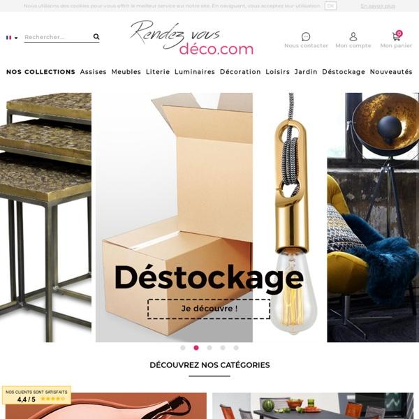 Mobilier design et décoration à prix usine : tout le mobilier au meilleur prix- Rendez vous déco