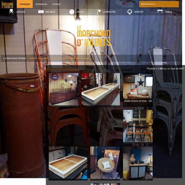 Mobilier industriel, meuble de métiers, décoration vintagepar le Marchand d'Oublis