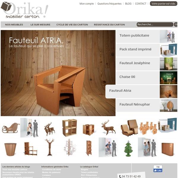 Mobilier et meuble en carton Orika