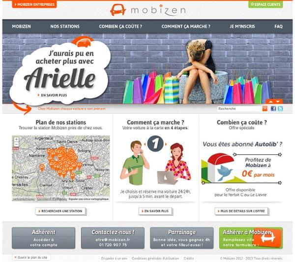 Mobizen - Autopartage Paris - Location de voiture à l'heure