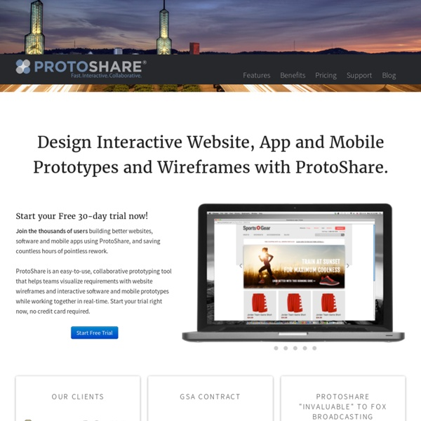 ProtoShare: Collaborative Website Wireframe and Prototype Tool