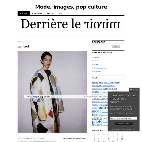 Mode, images, pop culture